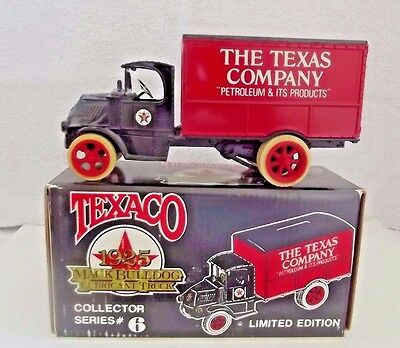 Texaco  1925 Mack Bulldog Lubricant Truck Limited Edition Series # 6 W/coin Bank