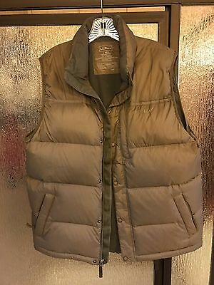 L.L. Bean Goose Down Vest Jacket - Mens Size Tall Large - Brown (LL Bean)