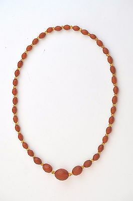 33 Grams Antique Faceted  Natural Honey Amber Necklace Translucent Over 100 yrs.