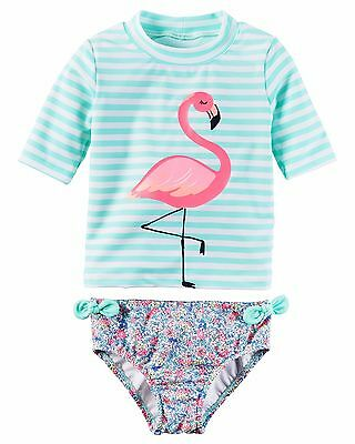 Carter's   Toddler Girls' Flamingo Rashguard Set  MSRP$36.00   2T--5T