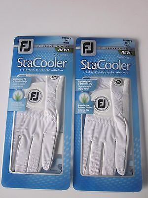 Lot of 2 FootJoy Stacooler Women's Left Hand Golf Gloves Size Small