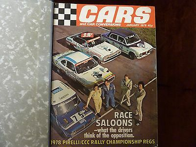 Cars and Car Conversions 1978 Full set in binder.