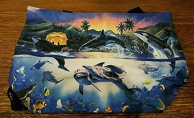 #C7 Christian Riese Lassen Orca World 2 Tote Bag Purse NEW