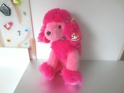 TY Beanie Buddies 2003 PARFUM Pink French Poodle TAG Attached    W3