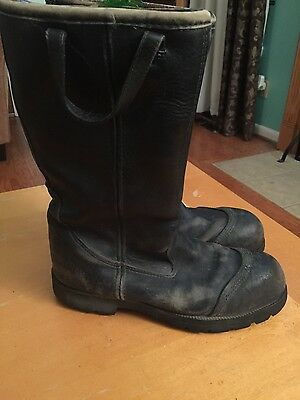Leather FIRE BOOTS by RANGER Stock # 3065 size 8 medium, great bargain