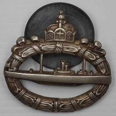 WW1 Original German Navy Submariner's Breast Badge