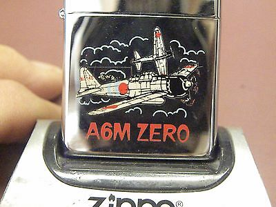 ZIPPO 1993~VINTAGE AIRCRAFT MILITARY-A6M ZERO-Mint Unfired Beauty! NOS!