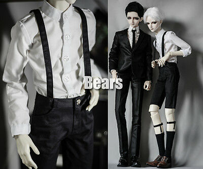 NEW Black All-match pants overalls For BJD BOY 1/3 1/4 Doll Clothes
