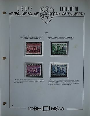 Lithuania 1939  Issue in commemoration of Recovery Vilnius Post Stamps set