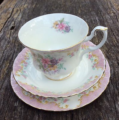 """ROYAL ALBERT TRIO """"SERENITY"""" Cup Saucer Plate Perfect Cond"""