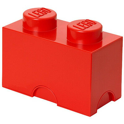 LEGO Storage Brick 2 Stud Red 5004279 NEW