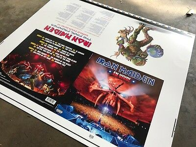 Iron Maiden - En Vivo! LP - Rare Art Proofs - The Final Frontier - Judas Priest
