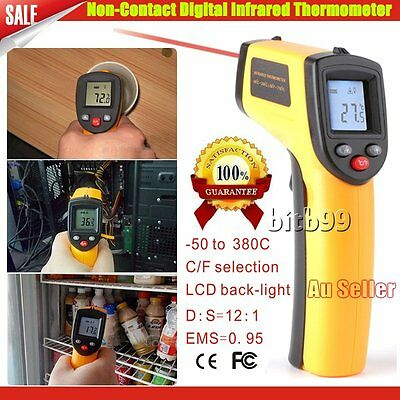 Digital Non-Contact Infrared IR Thermometer Temperature Laser Gun -50℃ to 330℃ A