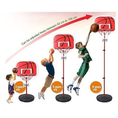 Portable Outdoor Adjustable Basketball Hoop System Stand Backboards Xmas Gift