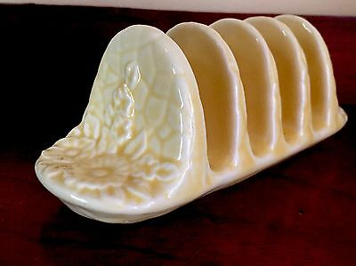 Vintage Crown Devon Toast Rack ~ Pale Yellow
