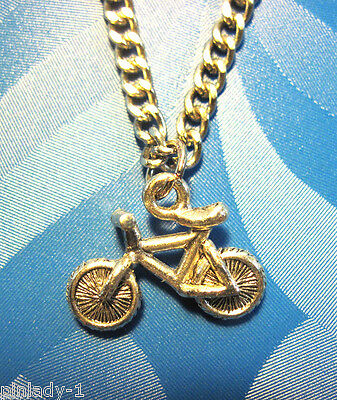 "BICYCLE  - charm , necklace 20"" chain  with 30"" cord  GIFT BOXED"