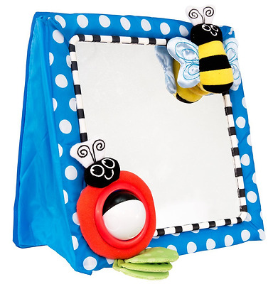 Toddler Baby Infant Sassy Play Floor Mirror, Blue