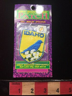 Vtg Great Mountain West IDAHO Patch State Bird & Flower 69Y