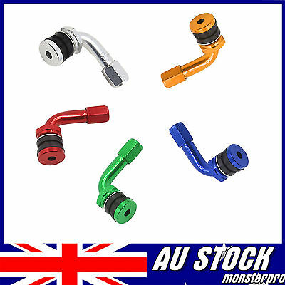 Car MOTORCYCLE Air Tire Tyre Valve Extension Stems Extender  90 Degree 5 Colors