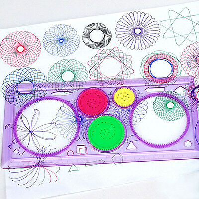 Cute 1PC Spirograph Geometric Ruler Drafting Tools Stationery Drawing Toys Set