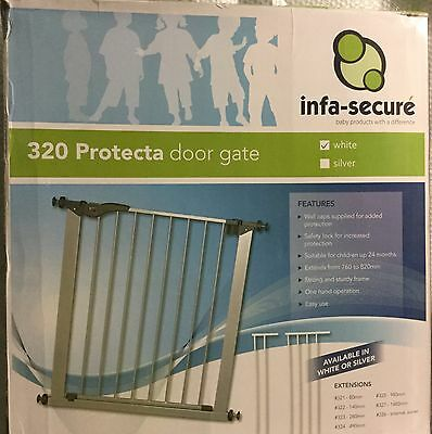 Infa Secure Protecta Door Security Gate White Safty Lock Strong Sturdy