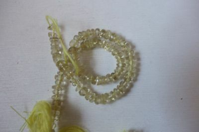Antique Created Citrine Rondelle Beads 13Inch Single Strand#7059