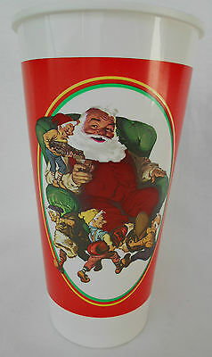 1993 Collector Edition Santa Plastic Cup From The Coca-Cola Company ~ USED