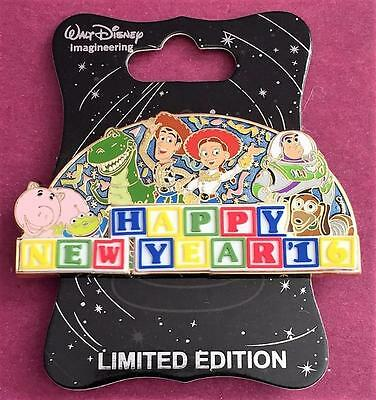 Disney WDI Toy Story Happy New Year 2016 LE 250 Cast Exclusive Pin