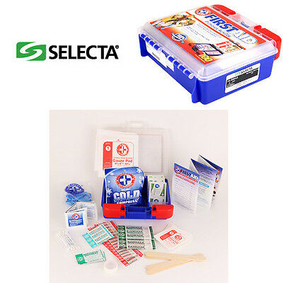 Small First Aid Kit Set Box 100 Piece Emergency Home Car Travel Camping SEL1114