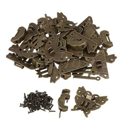 BQLZR 30 x Blessing Lock Latch Butterfly Buckle Clasp For Cabinet Jewelry Box