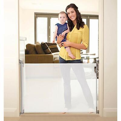 Stork Retractable Baby Safety Gate Stair Gate - White - St9055 - NEW