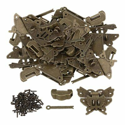 BQLZR 20 x Blessing Lock Latch Butterfly Buckle Clasp For Cabinet Jewelry Box