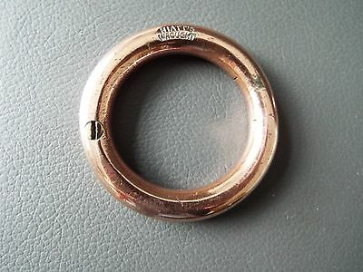 """Antique or vintage copper bull nose ring 2 1/4"""" Hiatts wrought"""