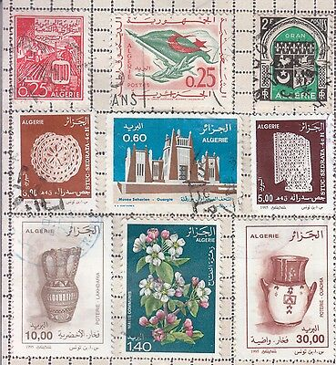 Algeria 9 Mixed Stamps Used