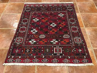 Lovely Tribal Antique Authentic Wool Handmade Hand Knotted  Persian Rug