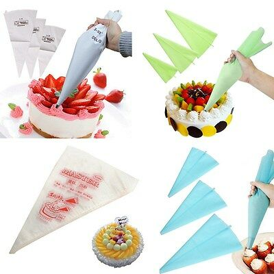 1/100pcs Reusable/Disposable Pastry Bag Icing Piping Cake Cupcake Decorating Bag
