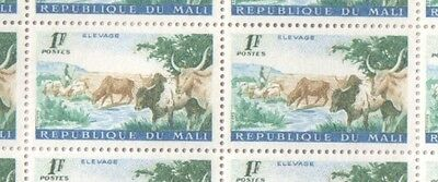 Mali MNH Sheet of 1961 1F Agriculture Series Stamps