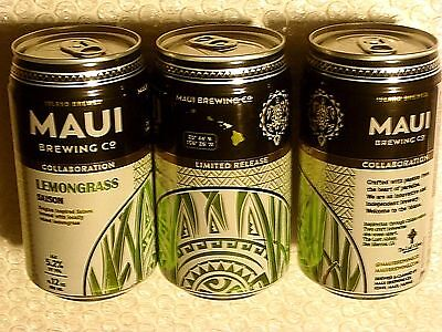 NEW LIMITED RELEASE ~ EMPTY MAUI BREWING LEMONGRASS Craft Beer 12oz Can Hawaii