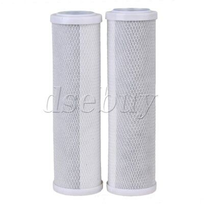 2pcs 10inch Household Water Filter Carbon Cartridges RO Replacement
