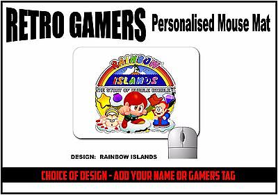 Retro Games Mouse Mat - Choice of Design - Customise Add your name or gamertag