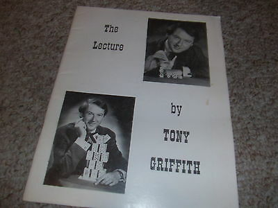 The Lecture  Book Tony Griffith