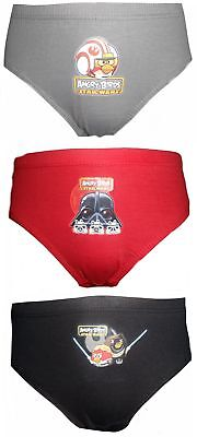 Star Wars Angry Birds Boys 6 pack Briefs 7-8 Years