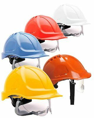 Portwest PW55 Safety Helmet With Integral Visor - Various Colours