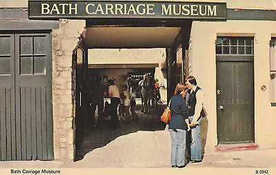 Bath Carriage Museum Postcard - People, Social History, Somerset