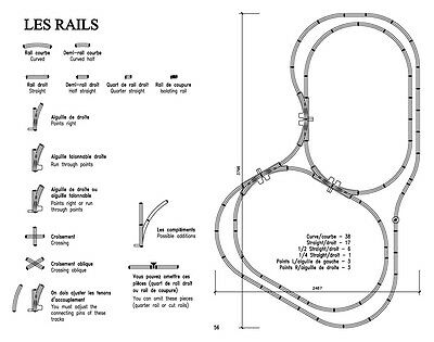 "56 HORNBY Gauge ""O"" track layouts – sent in PDF format by email."