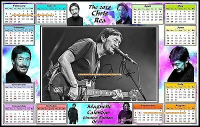 The 2018 Chris Rea, Autographed MAGNETIC CALENDAR. Limited Edition (CR-8)