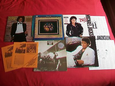 Michael Jackson / Jackson 5  Vinyl Collection 5 Lp's - Bad, Thriller,wall,hits