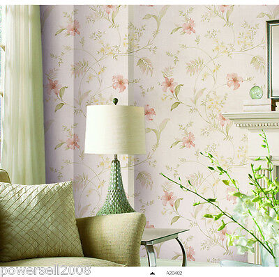 Rural Style Non-woven Background Parlour Bedroom 5.3㎡ Floral Wallpaper &$