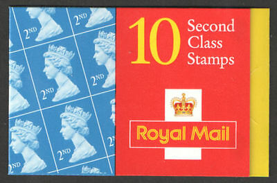 GB QEII BARCODE Stamp Booklet HC22 10 x 2nd 1998 SG 1664a QUESTA