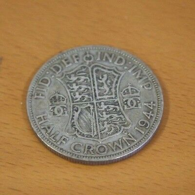 1944 Half Crown Silver Coin British King George
